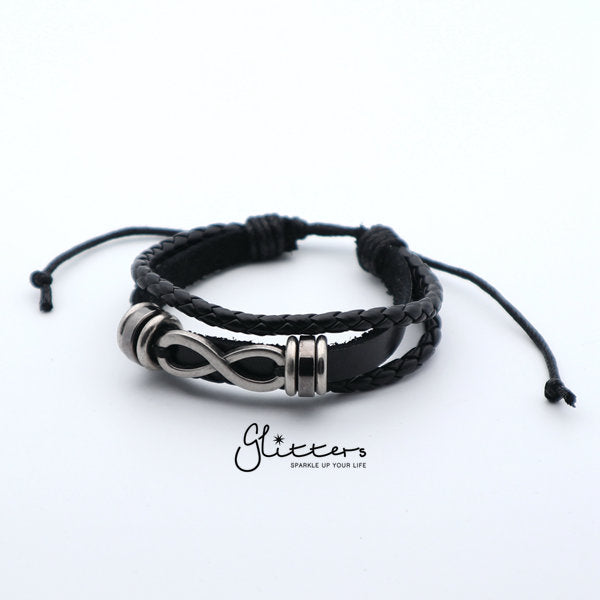 Classic Multilayer Infinity Leather Bracelet-Glitters