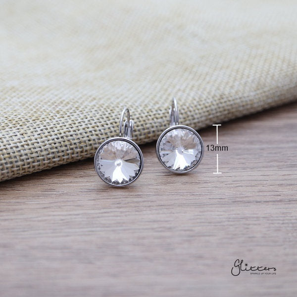 Swarovski Round Crystal Hook Earrings