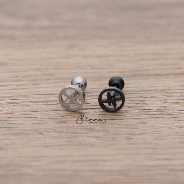 316L Surgical Steel Heartbeat Barbell for Tragus, Cartilage, Conch, Helix Piercing and More