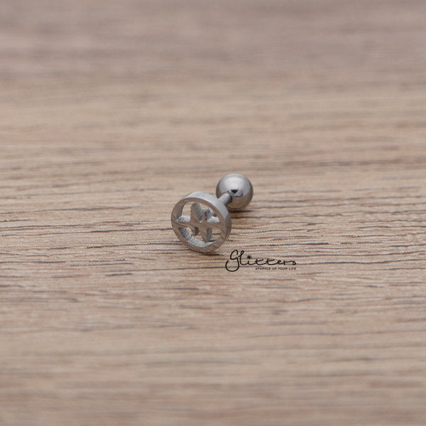 316L Surgical Steel Heartbeat Barbell for Tragus, Cartilage, Conch, Helix Piercing and More-Glitters-New Zealand