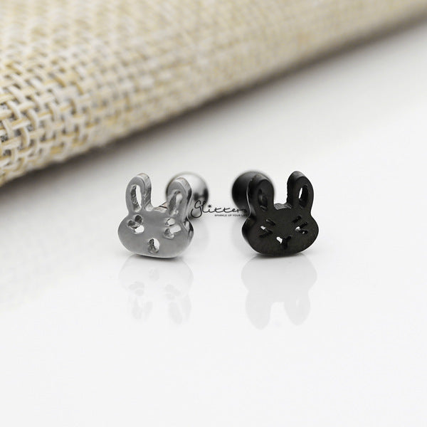316L Surgical Steel Rabbit Barbell for Tragus, Cartilage, Conch, Helix Piercing and More-Glitters-New Zealand