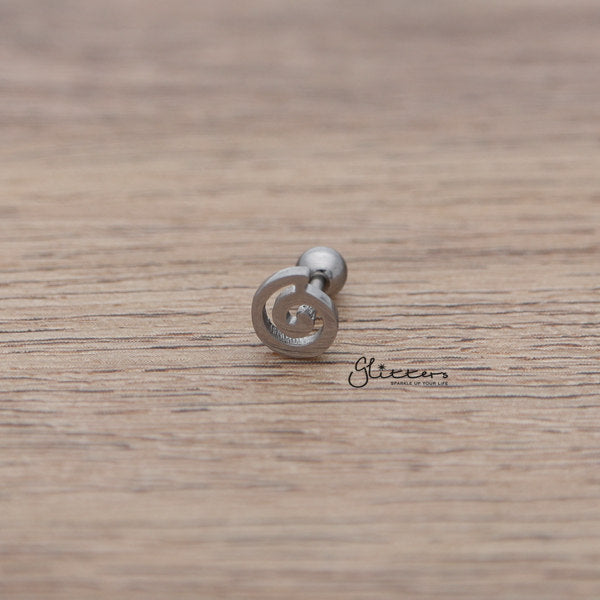 316L Surgical Steel Spiral Barbell for Tragus, Cartilage, Conch, Helix Piercing and More-Glitters-New Zealand