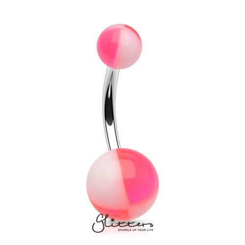 14 Gauge Acrylic Multi Color Balls - Pink/White-Glitters-New Zealand