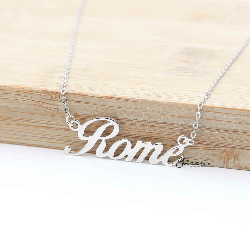 Personalized Sterling Silver Name Necklace - Font 11-Glitters-New Zealand