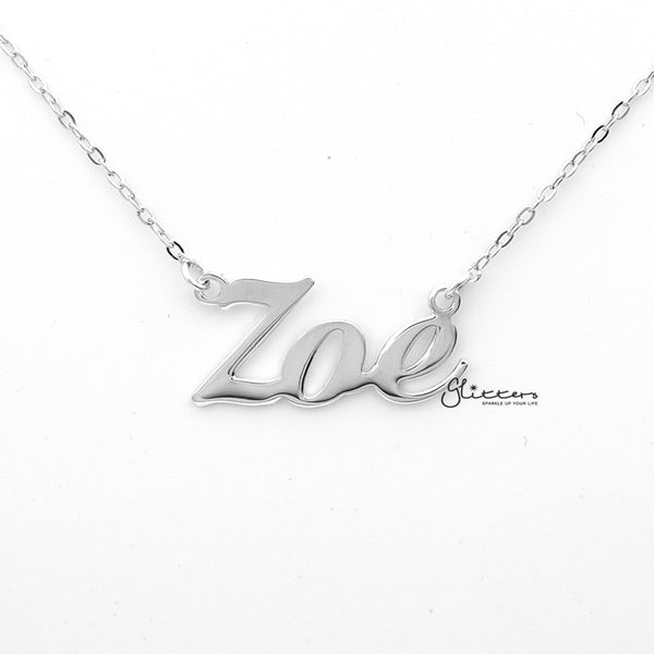 Personalized Sterling Silver Name Necklace - Font 1-Glitters-New Zealand