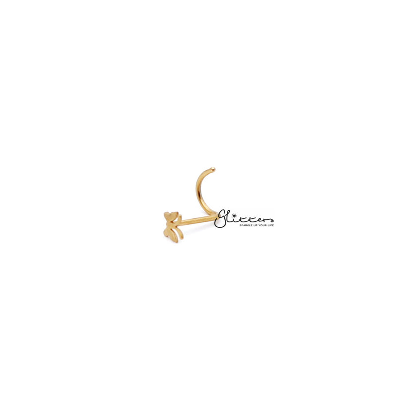 20 Gauge Surgical Steel Butterfly Nose Screw - Silver | Gold-Glitters-New Zealand