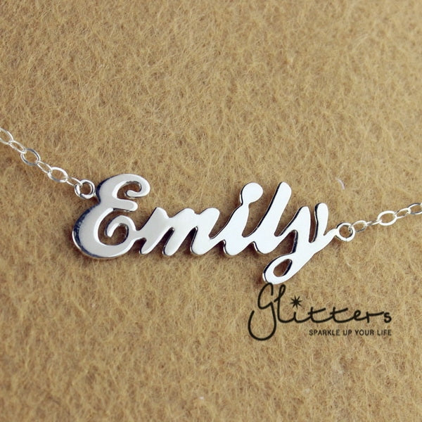Personalized Sterling Silver Name Necklace-Glitters