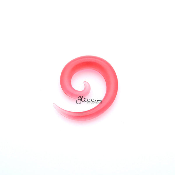 Pink Acrylic Ear Spiral Taper Stretcher Plugs