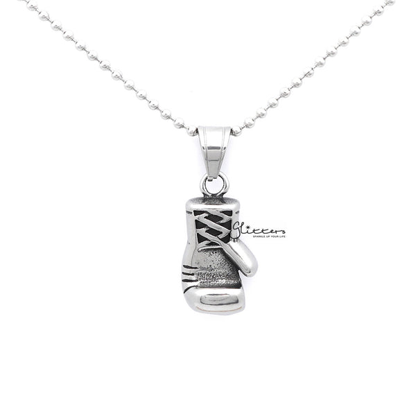 Men's Stainless Steel Boxing Glove Pendant Necklace