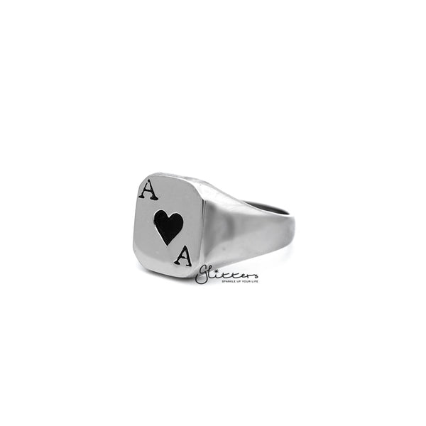 Stainless Steel Hearts Ace Casting Men's Rings