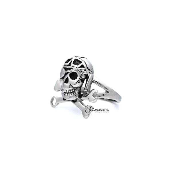 Men's Stainless Steel Skull with Bone Casting Rings
