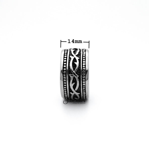 Stainless Steel Retro Gothic Pattern Casting Men's Rings