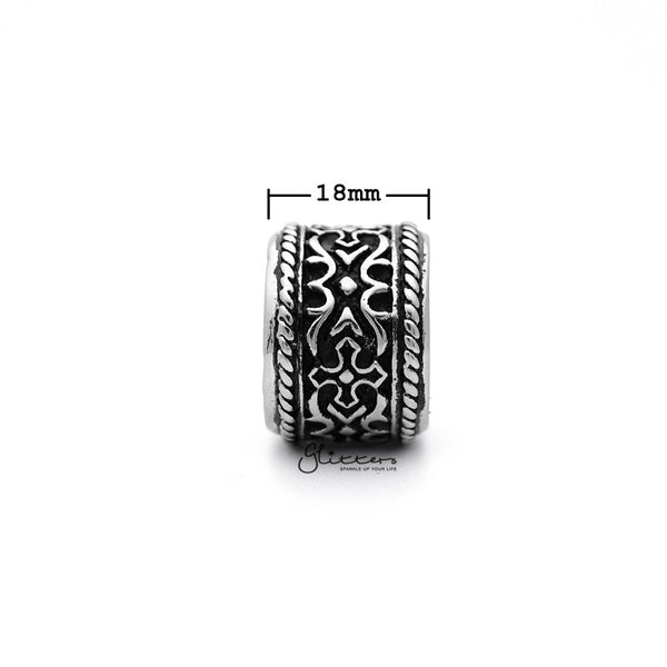 Stainless Steel Retro Gothic Cross Pattern Casting Men's Rings-Glitters-New Zealand