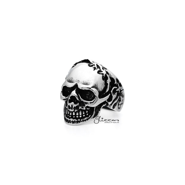 Men's Antiqued Stainless Steel Skull Casting Rings