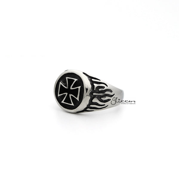 Men's Stainless Steel Circle Cross Casting Rings