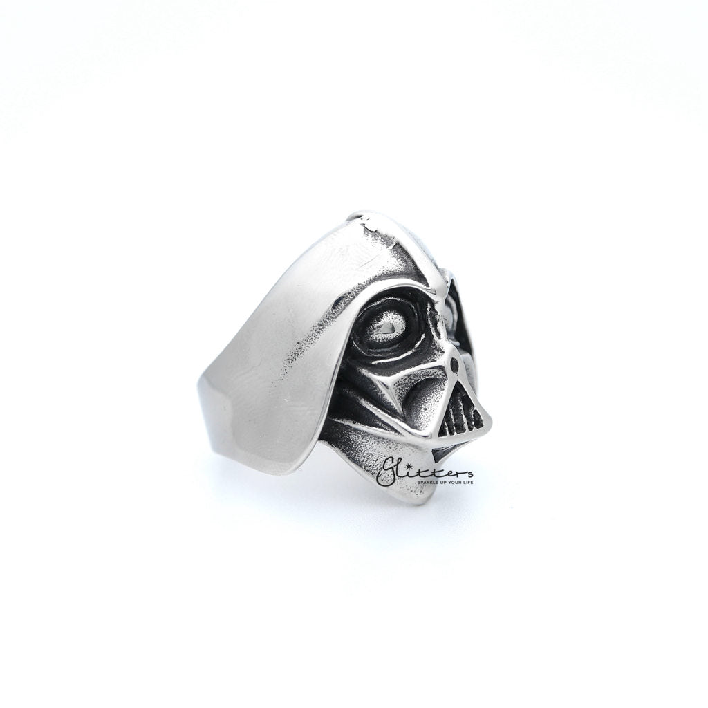 Men's Stainless Steel Darth Vader Casting Rings-Glitters-New Zealand