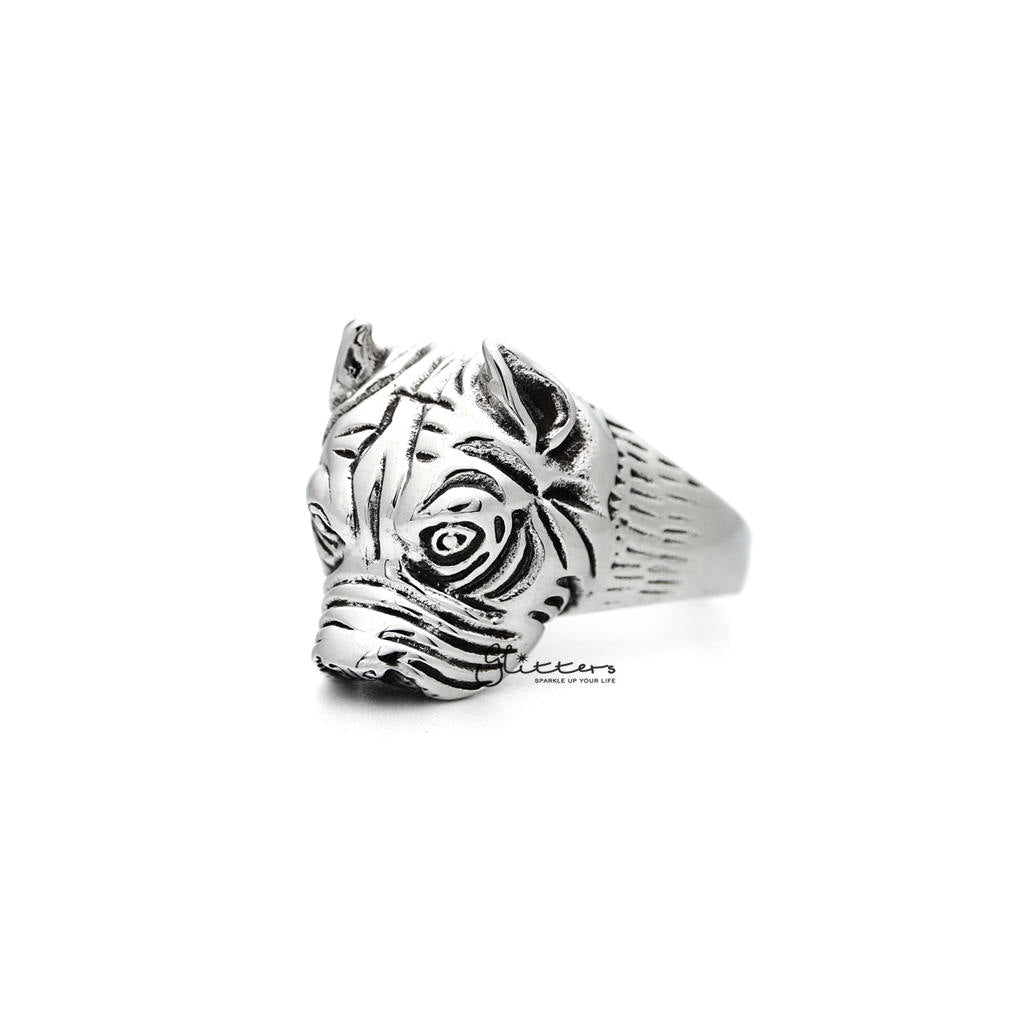 Men's Stainless Steel Dog Casting Rings-Glitters-New Zealand