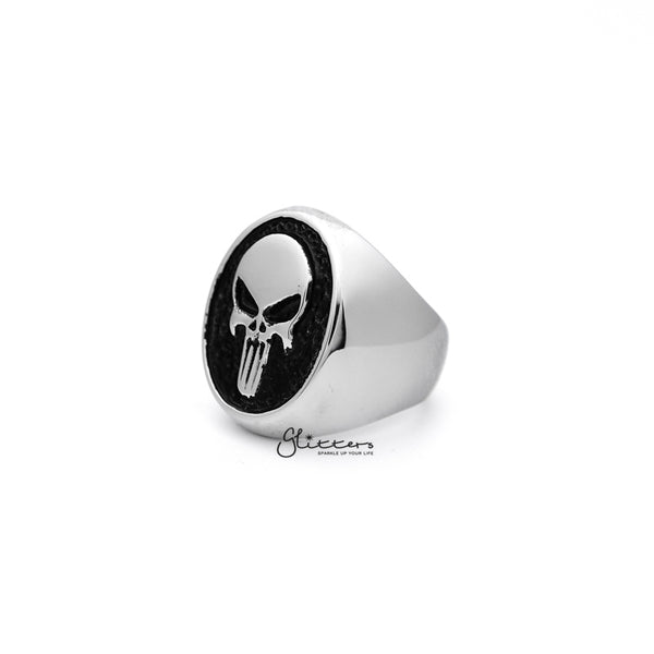 Stainless Steel Punisher Skull Casting Men's Rings