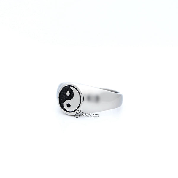 Men's Stainless Steel Yin Yang Casting Rings