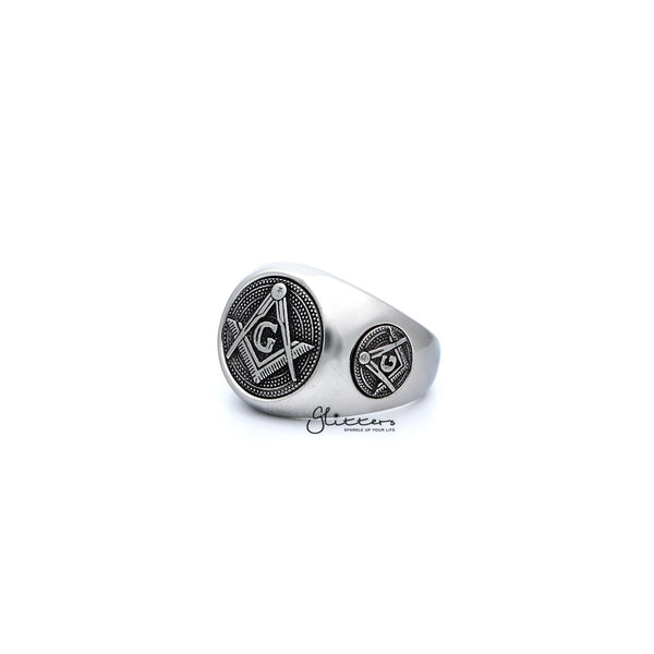 Stainless Steel Masonic Casting Men's Ring
