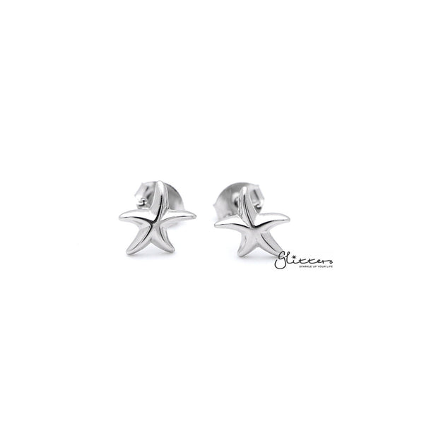 Sterling Silver Starfish Women's Stud Earrings