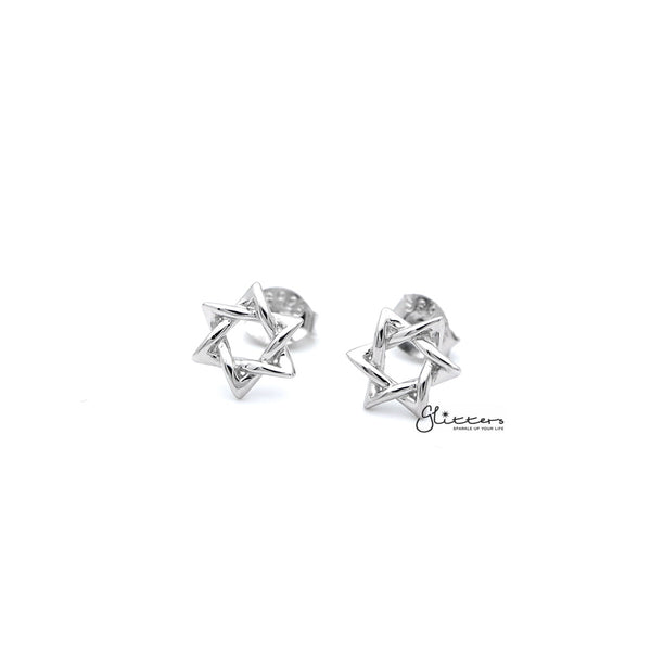 Sterling Silver Star of David Women's Stud Earrings