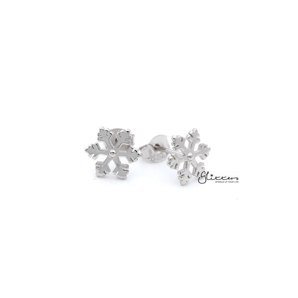 Sterling Silver Snowflake Women's Stud Earrings