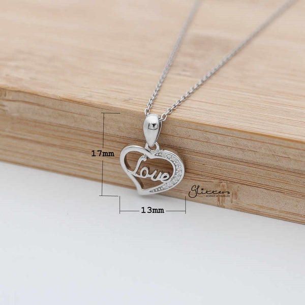 Sterling Silver Hollow Heart with