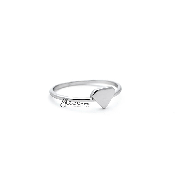 Sterling Silver Diamond Shape Women's Rings