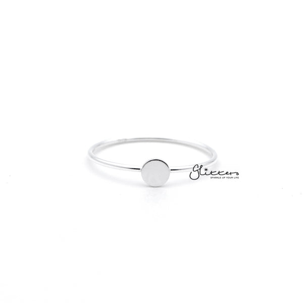 Sterling Silver Circle Shape Women's Rings