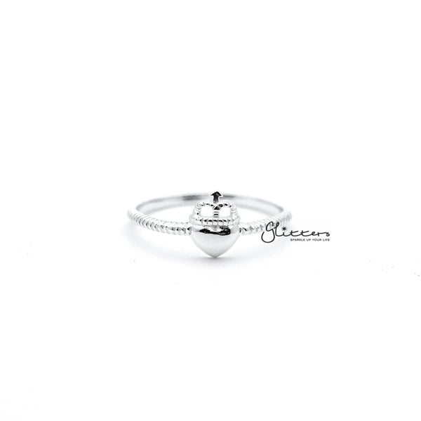 Sterling Silver Heart and Crown Women's Rings