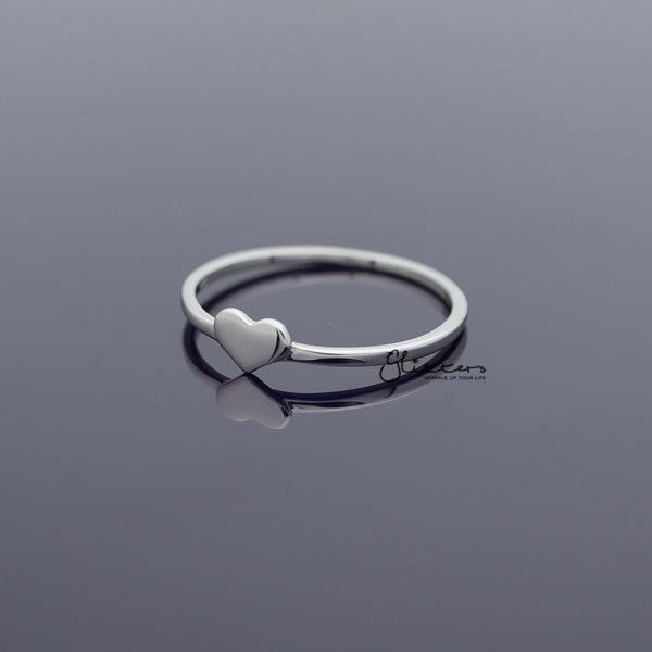 Sterling Silver Heart Shape Women's Rings