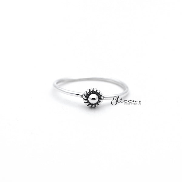 Sterling Silver Circle Dot Women's Rings
