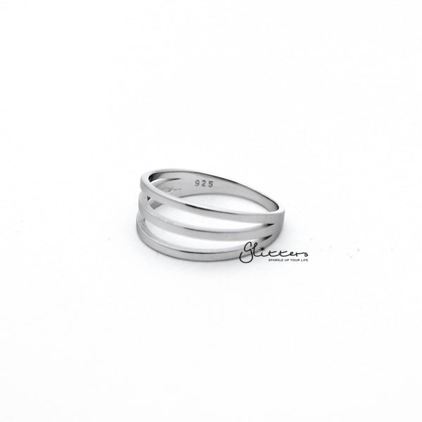 Sterling Silver 3 Lines Women's Rings