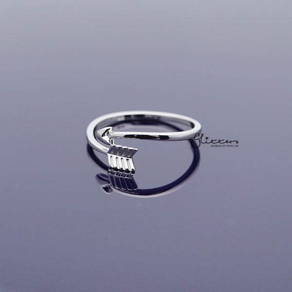 Sterling Silver Arrow Women's Rings-Glitters-New Zealand