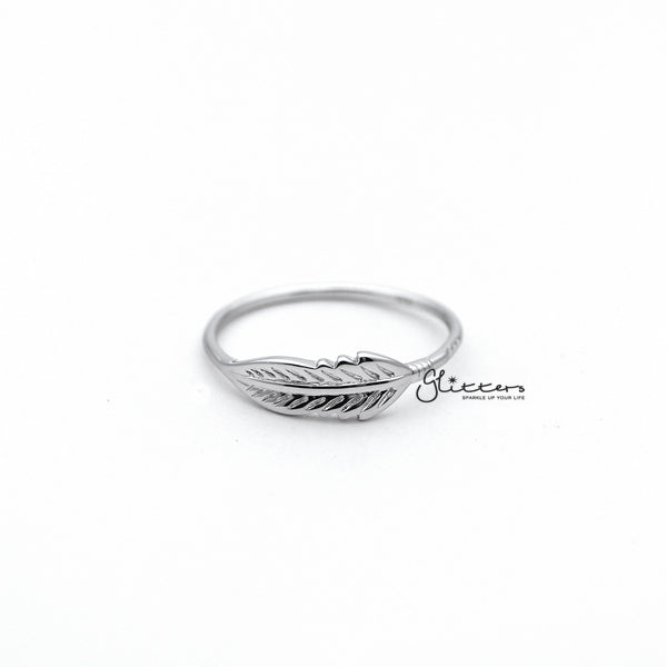 Sterling Silver Feather Women's Rings