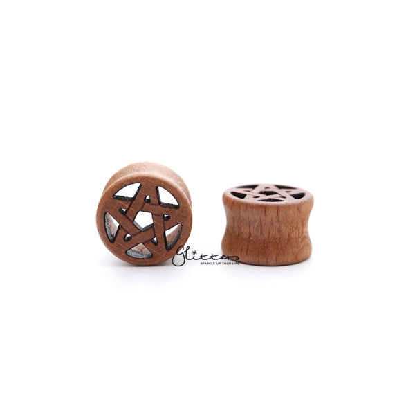Star Cut Out Natural Organic Wood Double Flared Saddle Fit Tunnel-Glitters-New Zealand