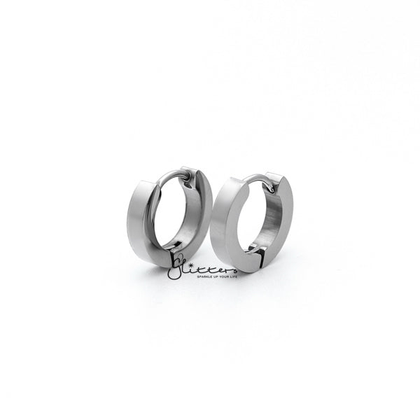Stainless Steel Hinged Hoop Earrings - 3x9