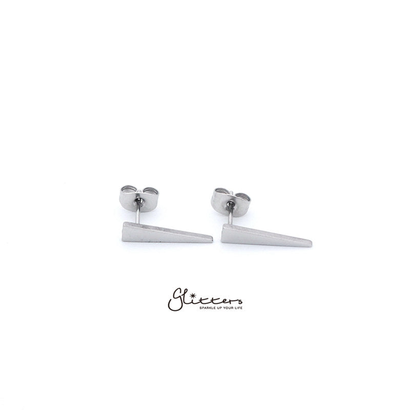 Stainless Steel Men's Long Spike Stud Earrings-Silver | Gold | Black-Glitters-New Zealand