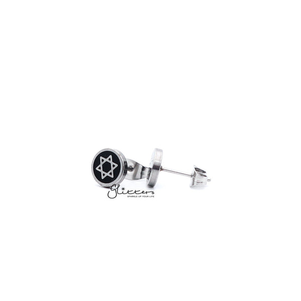 Stainless Steel Star of David Stud Earrings