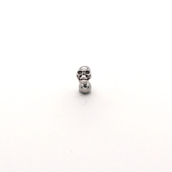 316L Surgical Steel Skull Tragus Barbell-Glitters-New Zealand