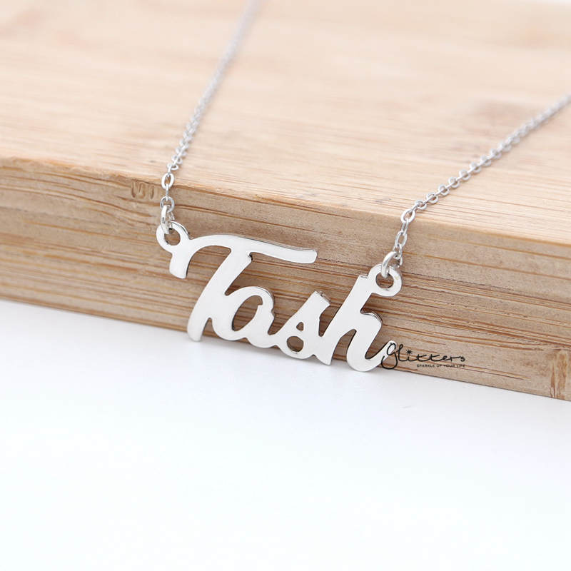 Personalized Sterling Silver Name Necklace-Font 12-Glitters-New Zealand