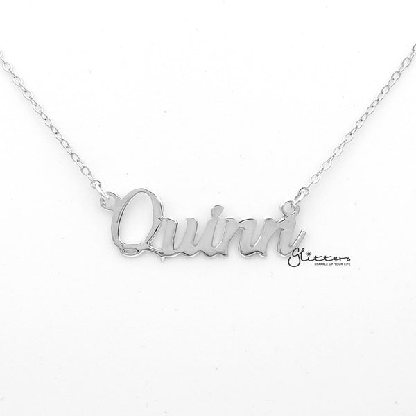 Personalized Sterling Silver Name Necklace - Font 10-Glitters-New Zealand