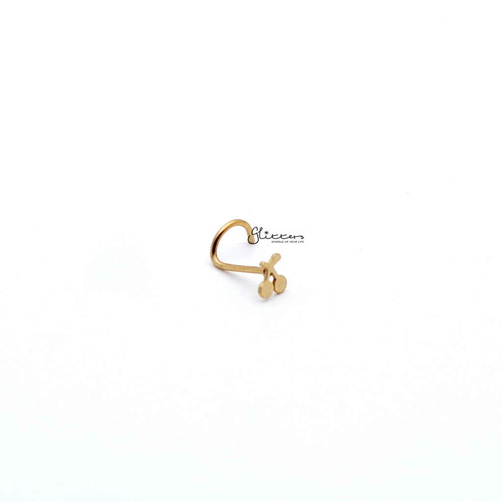 20 Gauge Surgical Steel Cherry Nose Screw-Silver | Gold-Glitters-New Zealand