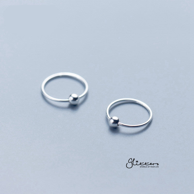 20GA Sterling Silver Bendable Nose Hoop Rings-Glitters-New Zealand