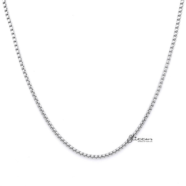 Men's Stainless Steel Classic Rolo Cable Chain Necklaces - 3mm width | 61cm length