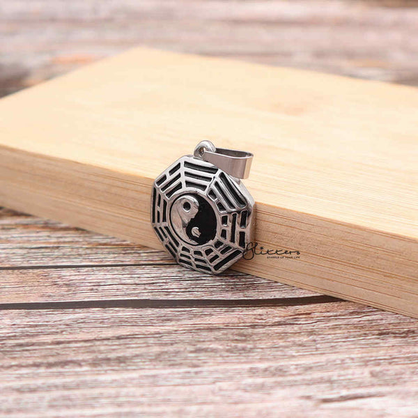 Men's Stainless Steel Yin Yang Pendant Necklace