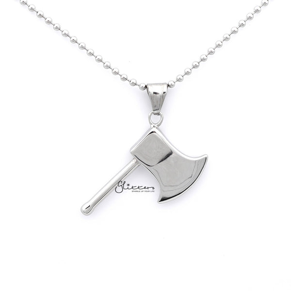Men's Stainless Steel Ax Pendant Necklace