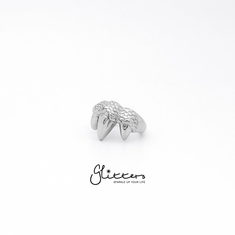 Stainless Steel Dragon Claw Ring-Glitters