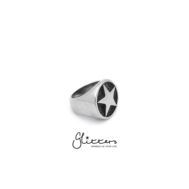 Stainless Steel Star Cast Ring-Glitters